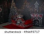 christmas evening. digital...   Shutterstock . vector #496693717