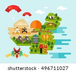 tourist infographics about... | Shutterstock .eps vector #496711027