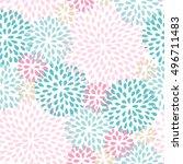 cute floral seamless pattern.... | Shutterstock .eps vector #496711483