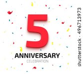five year anniversary banner.... | Shutterstock .eps vector #496713973