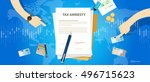 tax amnesty illustration ... | Shutterstock .eps vector #496715623