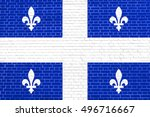 canadian provincial flag  qc... | Shutterstock . vector #496716667