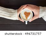warming cappuccino decorated a... | Shutterstock . vector #496731757