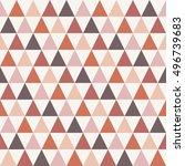 boho triangle seamless pattern. ... | Shutterstock .eps vector #496739683