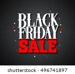 black friday sale vector banner ... | Shutterstock .eps vector #496741897