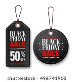 black friday sale vector price... | Shutterstock .eps vector #496741903