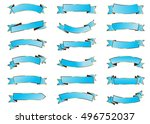 ribbon blue vector icon on... | Shutterstock .eps vector #496752037