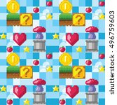 video game seamless pattern....   Shutterstock .eps vector #496759603