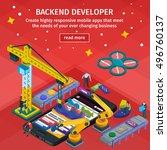 mobile app development ... | Shutterstock .eps vector #496760137