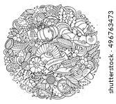 cartoon vector hand drawn...   Shutterstock .eps vector #496763473
