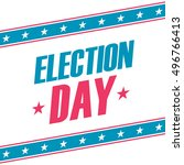 usa election day banner. vector ... | Shutterstock .eps vector #496766413