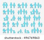 outline vector family... | Shutterstock .eps vector #496769863