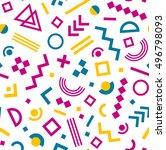 seamless geometric vintage... | Shutterstock .eps vector #496798093
