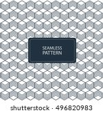 geometric abstract seamless... | Shutterstock .eps vector #496820983