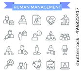 human management icons  thin... | Shutterstock .eps vector #496822417