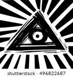all seeing eye symbol | Shutterstock .eps vector #496822687