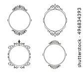 vector frame labels set... | Shutterstock .eps vector #496834393
