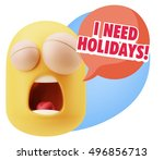 3d rendering tired character... | Shutterstock . vector #496856713