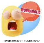 3d rendering tired character... | Shutterstock . vector #496857043