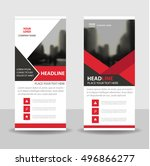 red elegance triangle business...   Shutterstock .eps vector #496866277