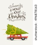 merry christmas greeting card...   Shutterstock .eps vector #496878163