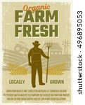 Farm Retro Style Poster With...