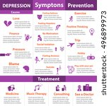 depression infographic in... | Shutterstock .eps vector #496899973