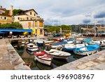 town of volosko in kvarner bay... | Shutterstock . vector #496908967