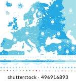 europe time zones high detailed ... | Shutterstock .eps vector #496916893
