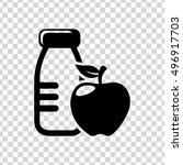 healthy food sign  icon | Shutterstock .eps vector #496917703