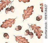 seamless seasonal pattern with... | Shutterstock . vector #496918627
