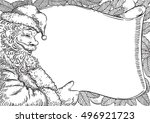 santa letter. vector card with  ... | Shutterstock .eps vector #496921723