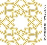 islamic dome golden background  ... | Shutterstock .eps vector #496925773
