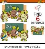 cartoon illustration of finding ... | Shutterstock .eps vector #496944163