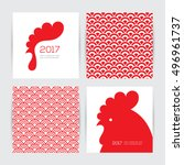 greeting cards design set for... | Shutterstock .eps vector #496961737