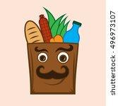 food shop vector | Shutterstock .eps vector #496973107