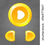 cartoon yellow buttons. vector...