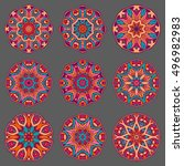 mandala sign collection. round... | Shutterstock .eps vector #496982983