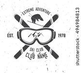 ski club concept. vector ski... | Shutterstock .eps vector #496984813
