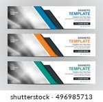 abstract banner design... | Shutterstock .eps vector #496985713
