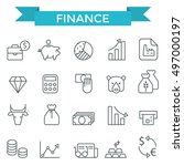 finance icons  thin line style  ... | Shutterstock .eps vector #497000197