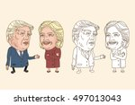 july 30  2016 caricature... | Shutterstock .eps vector #497013043