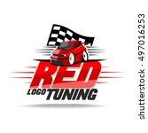 red car tuning logo  | Shutterstock .eps vector #497016253
