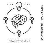 brainstorming infographic... | Shutterstock .eps vector #497051383