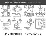 project management infographic... | Shutterstock .eps vector #497051473