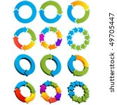 set of different arrow circles... | Shutterstock .eps vector #49705447