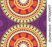seamless pattern ethnic style....   Shutterstock . vector #497066407
