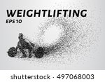 weightlifter of the particles.... | Shutterstock .eps vector #497068003