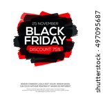 banner with black friday...   Shutterstock .eps vector #497095687