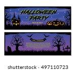 halloween. trick or treat.... | Shutterstock .eps vector #497110723